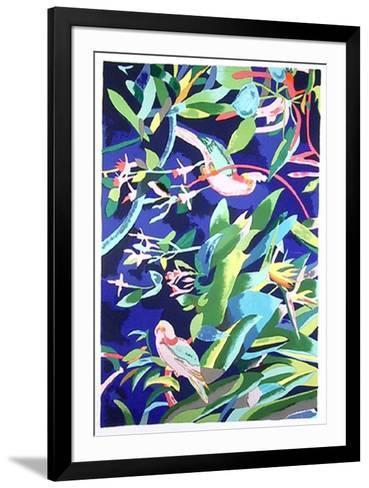 Rose Breasted Cockatoos-Linda Bastian-Framed Art Print