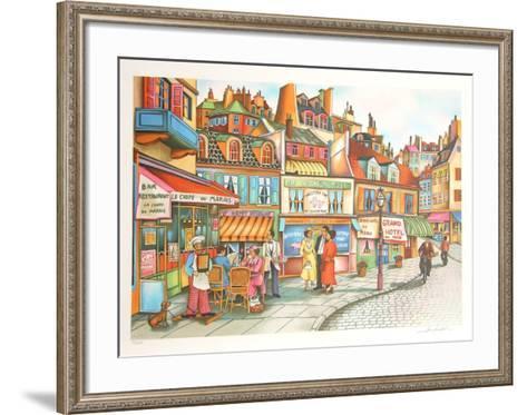 Sidewalk Cafe-Ari Gradus-Framed Art Print