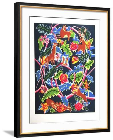 Night Garden-Linda Bastian-Framed Art Print