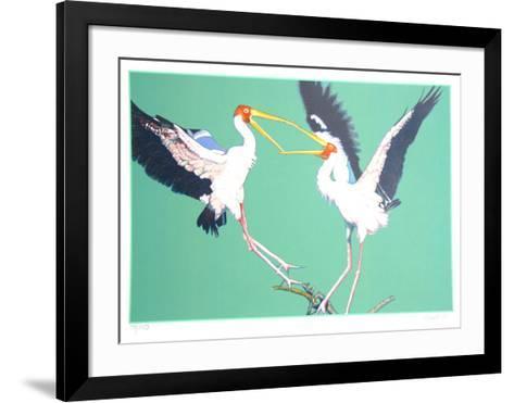 Two Storks-Fran Bull-Framed Art Print
