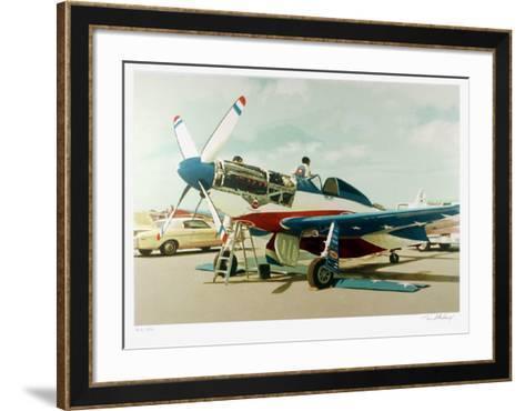 Red, White & Blue Mustang-Tom Blackwell-Framed Art Print