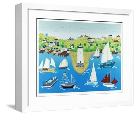 Lighthouse-Gisela Fabian-Framed Art Print