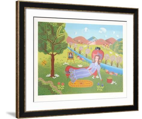 Girl on Divan-Gisela Fabian-Framed Art Print