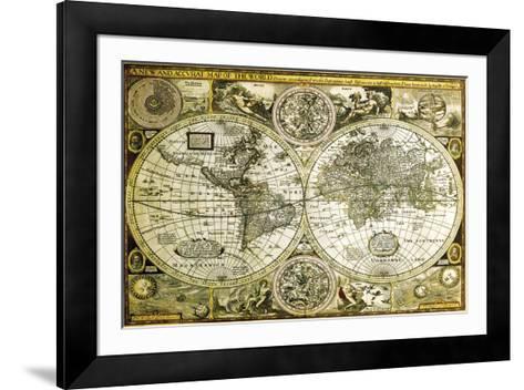 World Map-Historical--Framed Art Print