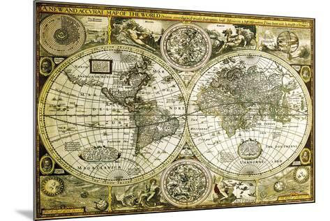 World Map-Historical--Mounted Poster