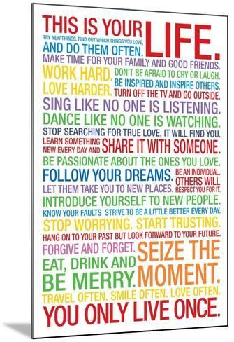 This is Your Life--Mounted Poster