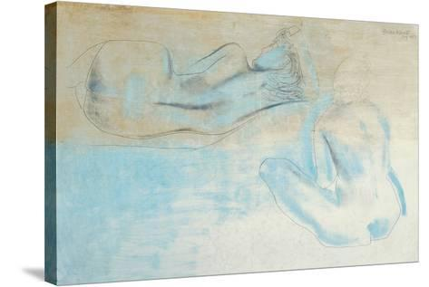 Two Figures by the Sea-Barbara Hepworth-Stretched Canvas Print