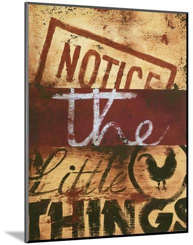 Notice The Little Things-Rodney White-Mounted Giclee Print