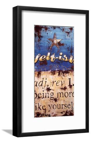 Self-ish-Rodney White-Framed Art Print