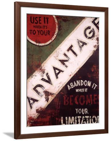 Advantage-Rodney White-Framed Art Print