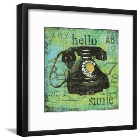 Say Hello With a Smile-Carol Robinson-Framed Art Print