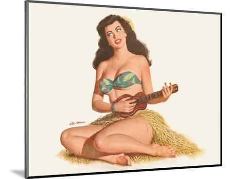 Pin Up Girl Playing Ukelele c.1951-Al Moore-Mounted Giclee Print
