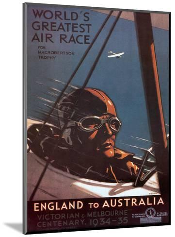 Air Race, England to Australia c.1934-Percy Trompf-Mounted Art Print
