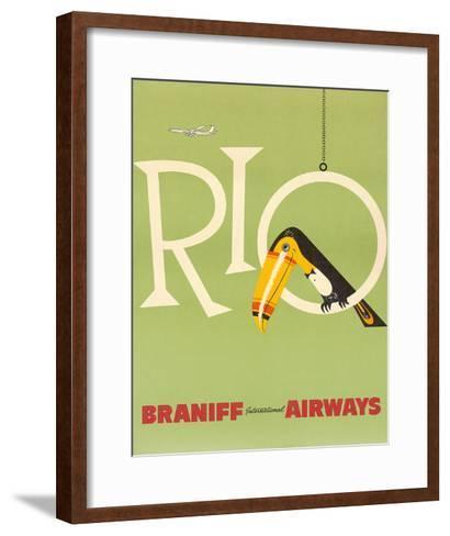 Braniff Air Rio c.1960s--Framed Art Print