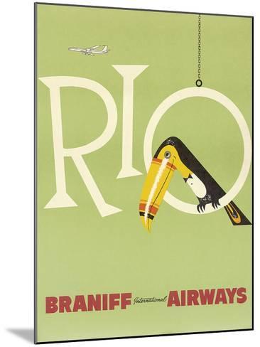 Braniff Air Rio c.1960s--Mounted Giclee Print