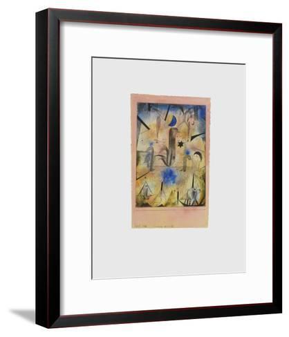 Warnung der Schiffe-Paul Klee-Framed Art Print