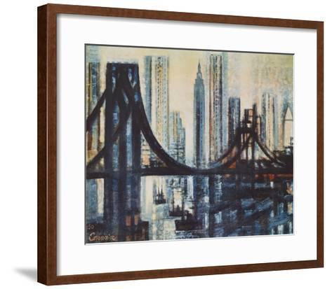 The Brooklyn-Bridge-Marcel Gromaire-Framed Art Print