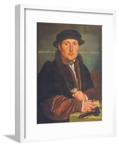 Portrait of a Man-Hans Holbein the Younger-Framed Art Print