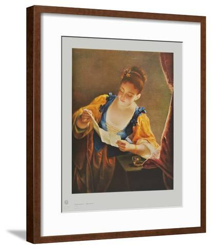 The Letter-Jean Raoux-Framed Art Print