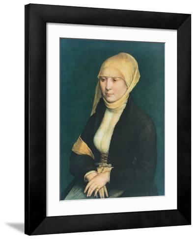 Portrait of a Young Lady-Hans Holbein the Younger-Framed Art Print