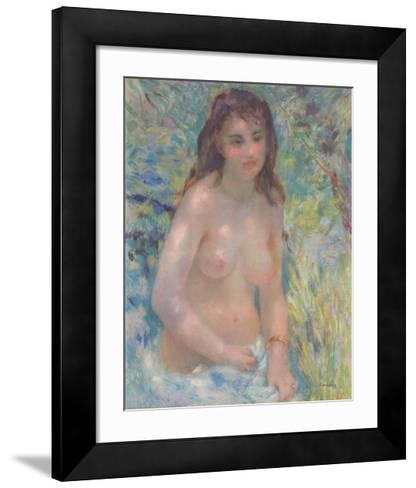 Nude in the Sun - Nu au Soleil-Pierre-Auguste Renoir-Framed Art Print