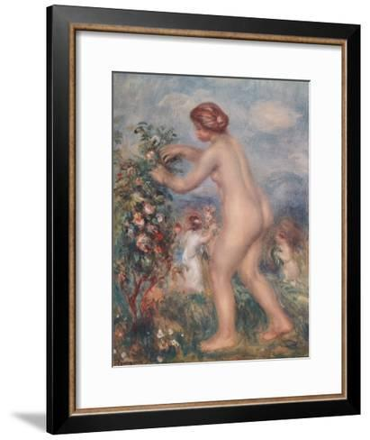 Ode to the Flowers-Pierre-Auguste Renoir-Framed Art Print