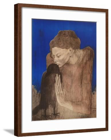 The Woman with the Raven-Pablo Picasso-Framed Art Print