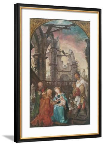 The Adoration of the Kings-Wolf Huber-Framed Art Print