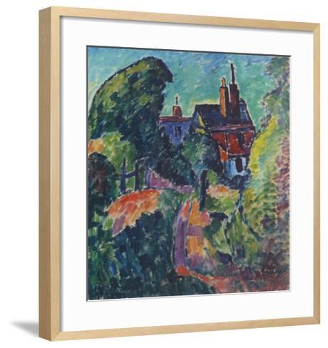 House among Trees-Alexej Von Jawlensky-Framed Art Print