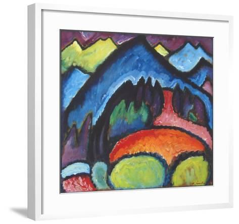 Road near Murnau-Alexej Von Jawlensky-Framed Art Print