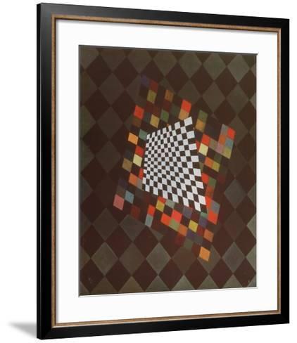 Quadrat-Wassily Kandinsky-Framed Art Print