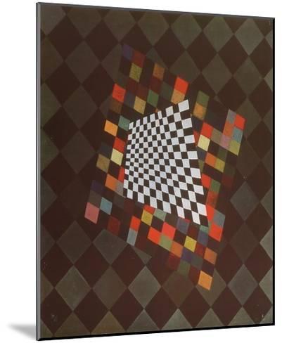 Quadrat-Wassily Kandinsky-Mounted Art Print