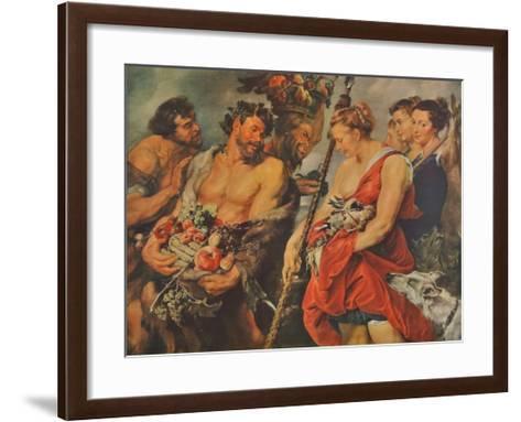 Diana s Return from the Chase-Peter Paul Rubens-Framed Art Print