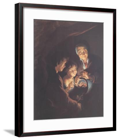 Old Woman with a Brazier-Peter Paul Rubens-Framed Art Print