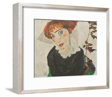 Portrait Wally Neuzil , 1912-Egon Schiele-Framed Art Print