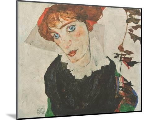 Portrait Wally Neuzil , 1912-Egon Schiele-Mounted Art Print