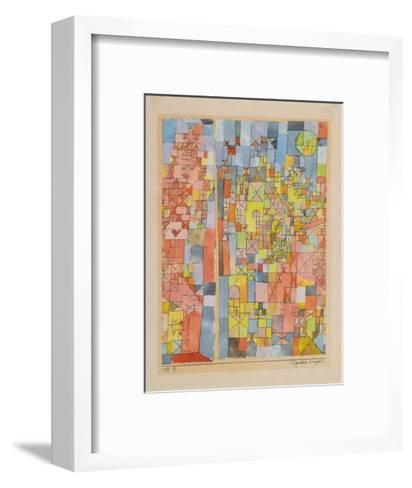 Dogmatic Composition-Paul Klee-Framed Art Print