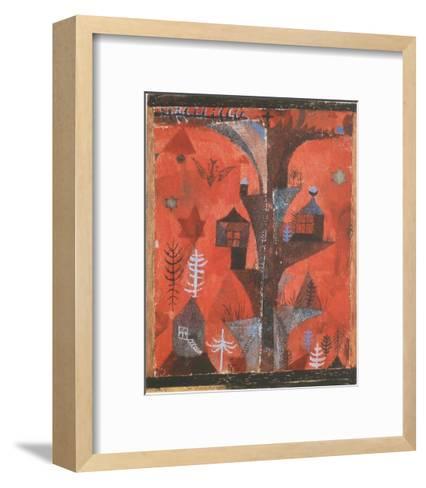The Houses-Tree-Paul Klee-Framed Art Print