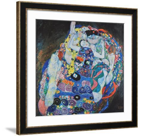 Vestal (hand-made paper)-Gustav Klimt-Framed Art Print