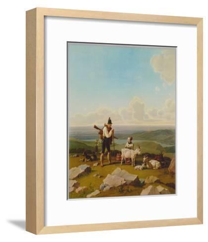 The Chamois-Hunter-Wilhelm Alexander Wolfgang Kobell-Framed Art Print