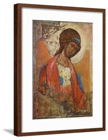 Archangel Michael-Andrei Rubljew-Framed Art Print
