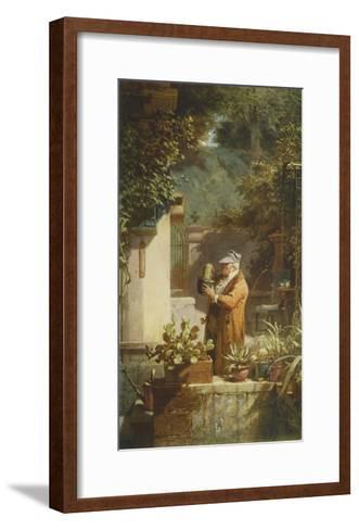 The Pensioner (large)-Carl Spitzweg-Framed Art Print