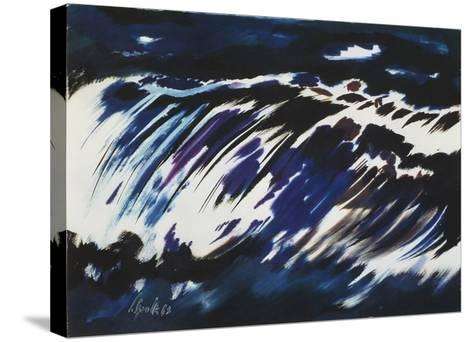Rushing Water, 1963-Siegward Sprotte-Stretched Canvas Print