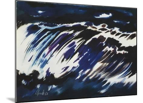 Rushing Water, 1963-Siegward Sprotte-Mounted Art Print