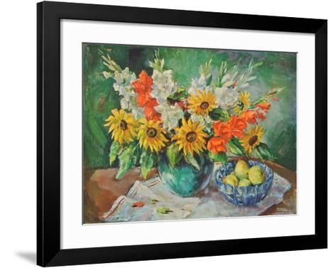 Flowers in a Vase- Kaufmann-Framed Art Print