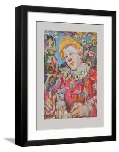 Clown witha Dog-Oskar Kokoschka-Framed Art Print