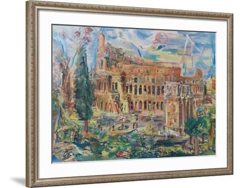 The Colosseum, Rome-Oskar Kokoschka-Framed Art Print