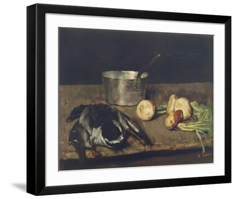 Still Life with Wild Duck-Carl Schuch-Framed Art Print