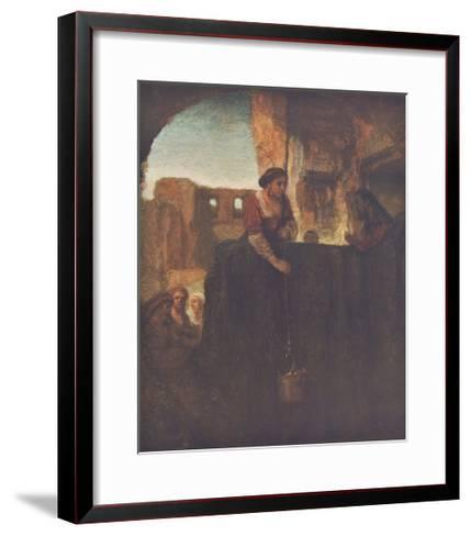 Jesus and the Samarite-Rembrandt van Rijn-Framed Art Print