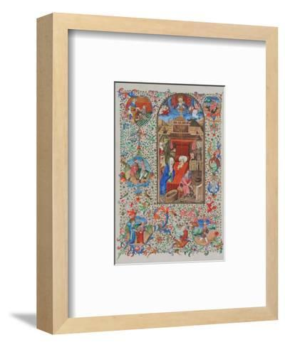 Birth of Christ - Prayer Book about 1450--Framed Art Print